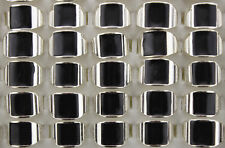 Newest Lots 40pcs Black enamel Silver Plated Alloy Unique Unisex Fashion Rings
