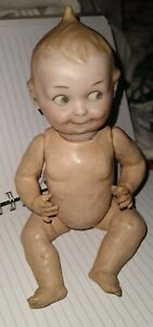 Antique Googly 252 A M Bisque Doll, Composition Body Markd Germany.  Estate Find