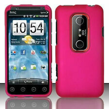 Rubber Rose Pink Case Phone Cover for Sprint HTC EVO 3D