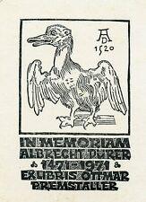 In Memoriam Albrecht Durer,  Ex libris Bookplate by Dolatowski, Zbigniew, Poland