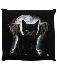 Spiral Cushion Bat Cat Black 40x40cm