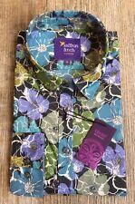 New Womens Liberty Print Teal Flower Print LIMITED EDITION Shirt - Saffron Finch