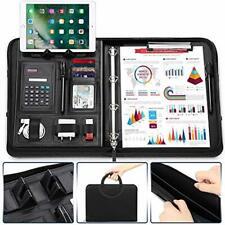 ConferenceFolderA4ZippedMagneticHandlewithiPad/Tablet/PhoneStand