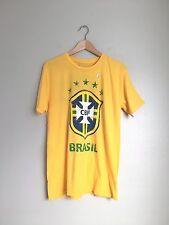 CBF Brasil Men's Brasil 10 Short Sleeve Sports Tee Shirt Top M Yellow