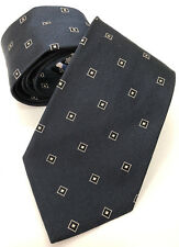Paul Smith Cravate bleu marine avec noir et argent carreaux 9CM blade100 % SOIE
