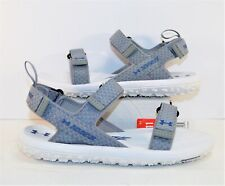 Under Armour UA Fat Tire Grey & White Strap Outdoor Sandal Sz 11 NEW 1293328 102