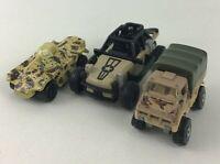 Die-Cast 1:64 Military Car Loose 3pc Lot Matchbox Hot Wheels Diecast Vintage 90s