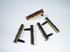5x 10K Log Slide Pot Potentiometer, slider, audio volume control. -- AU STOCK!