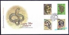 2002 Malaysia Species of Snakes 4v Stamps FDC (Pulau Pinang Cachet)