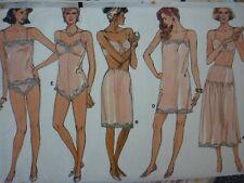 VINTAGE 1980'S VOGUE LINGERIE SEWING DRESSMAKING PATTERN IN LARGER SIZES