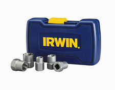 new IRWIN 5 Piece BASE Damaged Bolt Grip Nut Remover Set 10-16mm + Case