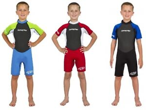 Hyperflex Children's Access Shorty Spring Suit Wetsuit 2mm, Size 2-8
