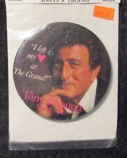 "1988 Tony Bennett 3.5"" Pin Pinback Vf 8.0 Bally's Grand Casino"