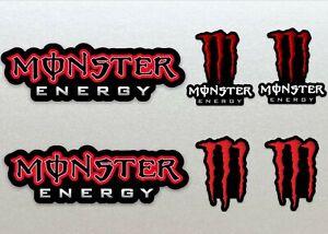 Monster Energy Red Assault Racing Bike, Car, Yamaha, Kawaskai, Moto Sticker Set