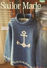 KNITTING PATTERN Childrens Anchor Motif Jumper Sailor Sweater Long Sleeved Rowan