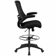 Flash Furniture BL-X-5M-D-GG Mesh Back Drafting Chair - Black Office Desk