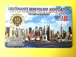 1 NEW  AUTHENTIC 2021 PBA LIEHTENANTS LBA  CARD  LIKE  CEA SBA DEA PBA CARD