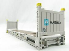 Iconic Replicas 40 ft Flat Rack Shipping Container Maersk 1:50