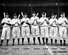 1936 Gehrig Dimaggio Lazzeri Photo 8X10   New York Yankees  Buy Any 2 Get 1 FREE