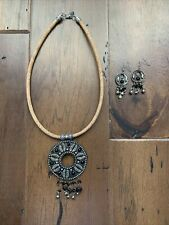 | Cork & Beading Boho Necklace & Earring Set