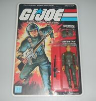 *RECARDED* 1982 GI Joe Grunt v1 Figure Complete Sealed *CUSTOM File Card Back*