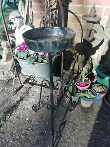 Vintage Wrought Iron Florist Flower Arrangement Church Display Planter Stand