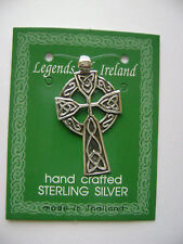 Sterling Silver Large Celtic Irish Cross Pendant New