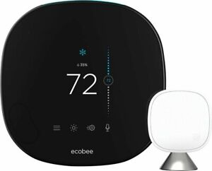 Brand New ecobee Smart Thermostat with Voice Control - Black