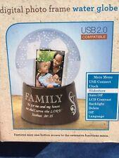 Digital Photo Frame WATER GLOBE Serve Lord FAMILY USB 2.0 Compatible SLIDESHOW