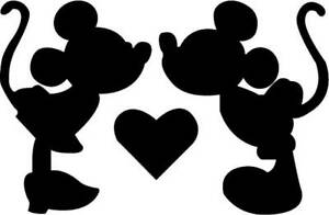 Disney Mickey & Minnie Love Heart Stencil