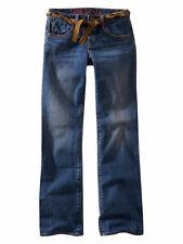 euc GAP KIDS Straight Leg COPPER MOUNTAIN Belted Blue Denim JEANS 6 R adj waist