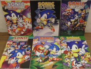 SONIC HEDGEHOG ARCHIVES 1 4 5 6 12 14 ARCHIE TPB COMIC LOT GALLAGHER 2009 NM NEW