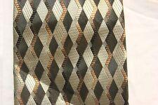 Bergamo New York Dress Neck tie 100% polyester dark gray, light blue, gold