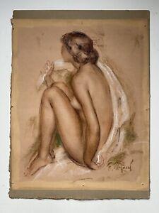 Femme nue dessin sanguine de Fernand MAJOREL (1898-1965) vers 1930