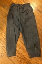 CABELAS POLYVINYL RUBBER HUNTING FISH BLUE GRAY WATERPROOF RAIN PANTS MENS XL