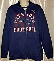 NWT Women's New England Patriots Team Logo Graphic Print Full Zip Hoodie Medium
