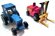 Vintage Lesney Fork Lift Truck No. 15 & Lesney Blue Tractor No. 46, 1972/1978