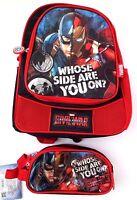 Marvel Comics Civil War Captain America VS Iron Man Backpack & Pencil Case NWT