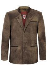 German Men's Lederjacke Trachten Janker Lederhosen Jacket NEW US 38-50