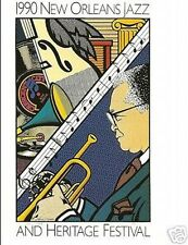 1990 New Orleans Jazz Festival Poster Post Card Postcard Sheik 90