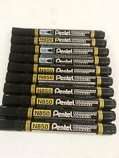 10x Pentel Permanent  N850 Bullet Point Marker Black GLASS METAL WOOD