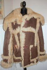 Men's SCHOTT Brand MOUNTAIN MAN Shearling Sheepskin Leather Suede Jacket Coat 42