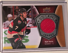 2016-2017 UD Game Jersey GJ-KT Kyle Turris, Ottawa Senators F RED BLACK & WHITE