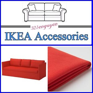 IKEA BRÅTHULT Slipcover Cover for 3 Seat Sofa, Vissle red-orange 403.361.85