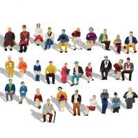 60pcs Model HO Scale 1:87 All Seated People 1:87 Sitting Figure Passengers