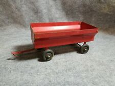 Vintage Red Metal Toy Farm Trailer