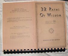 32 Paths Wisdom,Occult,Esoteric,Metaphysical,amorc,rosicrucian,Masonic,B.O.T.A