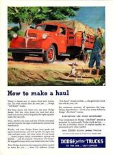 Print. 1947 Dodge Stake Truck - How to make a haul - advertisement
