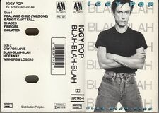 "K 7 AUDIO (TAPE)  IGGY POP  ""BLAH-BLAH-BLAH"""