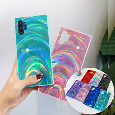 Rubber Rainbow Bling Sparkle Protective PC Case Cover For Samsung Note20+/S20/S9